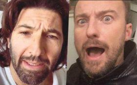 """Francesco Facchinetti su Instagram: """"Quel demente di Walter Nudo""""."""